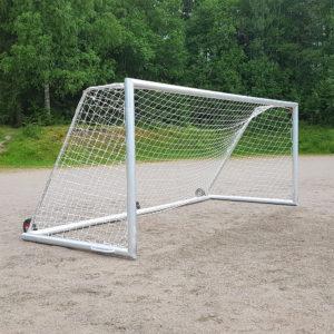 Kaatumaton turvamaali - Jalkapallomaali Alusport Pro 5x2m kiinteällä 125kg vastapainolla