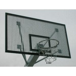 Teräksinen koripallokorin taustalevy (kalvanoitu) ulkokäyttöön