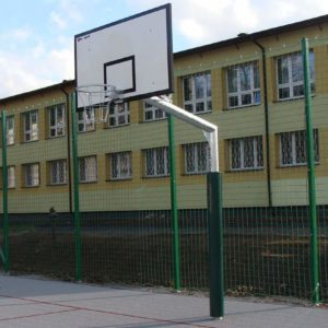 Maahan upotettava koripalloteline 165cm ulostulolla -Coma-Sport