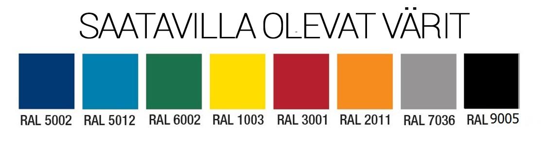 Alastulopatja - värivaihtoehdot