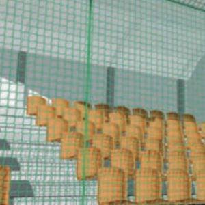 Jalkapallohallin päätyverkko Rombull