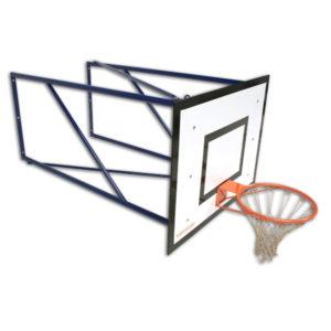 Seinään Kiinnitettävä koripalloteline 185cm ulostulolla