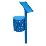 Frisbeegolfradan väylätelineeseen kiinnitettävä roskakori