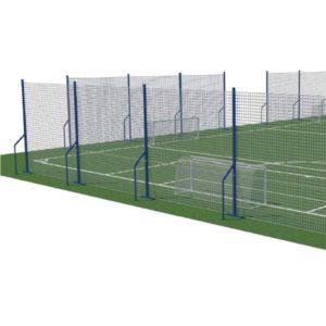 jalkapallo suojaverkko jalkapallokentälle