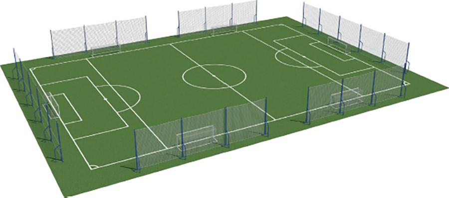 Jalkapallokentän suojaverkot