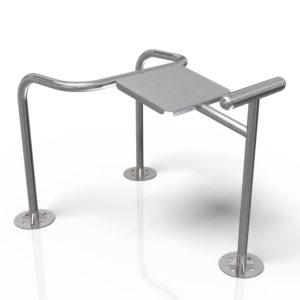 Selkälihaspenkki ulkokäyttöön Colmex CE-sarja ulkokuntosalilaite