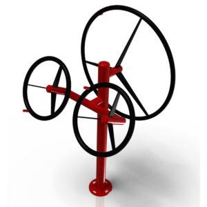 Tai Chi renkaat + olkapääpyörä Colmex ulkokuntosali CZ-sarja
