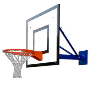 Seinään kiinnitettävä koripalloteline