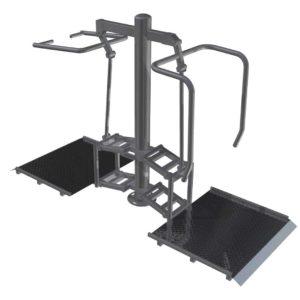 Ylätalja+rintalihaslaite pyörätuolikäyttäjälle Colmex CE1119h
