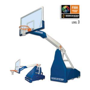 Koripalloteline Sport System Easyplay Training FIBA3 tason peleihin