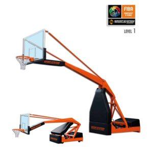 FIBA 1 hyväksytty siirrettävä koripalloteline Sport System FIBA 2.0