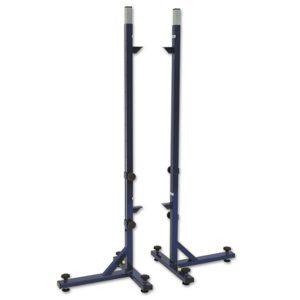 Korkeushyppytelineet (teleskooppi-malli) Sport System harjoittelukäyttöön