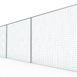 Jalkapallokentän päätyverkko tolpilla 15x4m Alusport