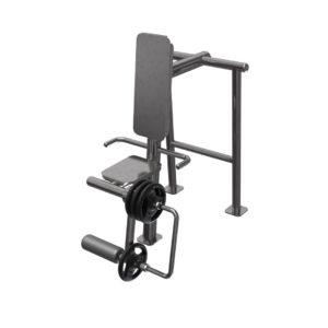 Jalkojen ojentajalaite vapailla painoilla / Colmex GCE 305 ulkokuntosalilaite